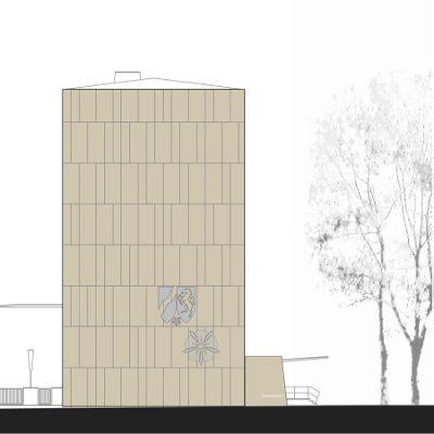 Fassadensanierung Finanzamt . Detmold