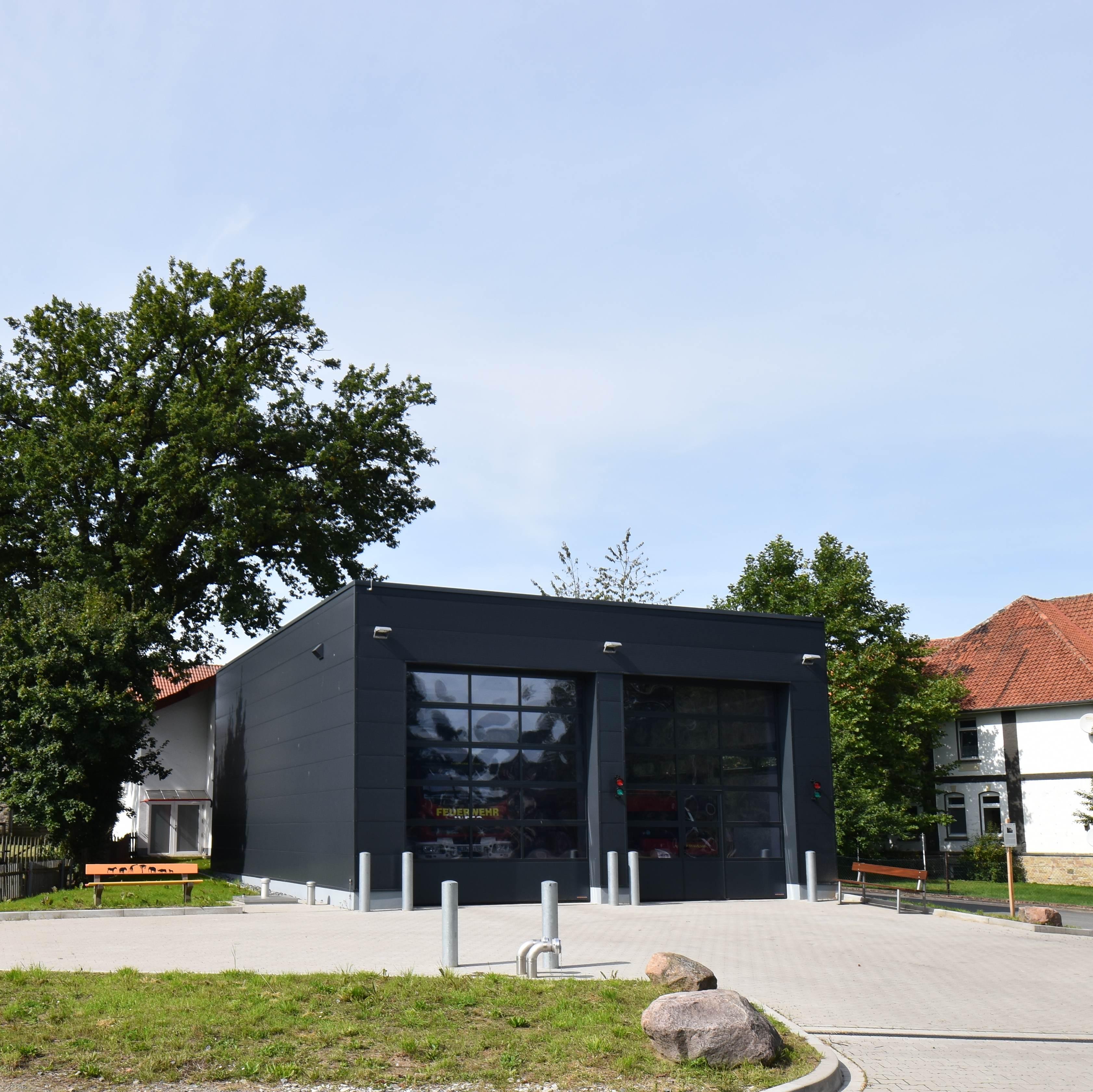 Erweiterung Feuerwehrgerätehaus . Lage Hagen